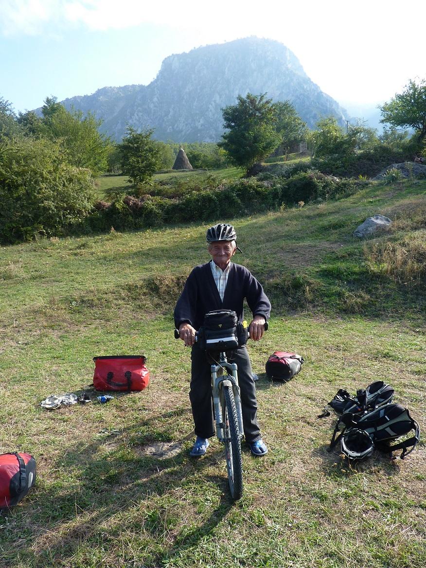 Dziadek na naszym rowerze